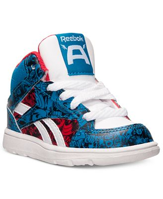 reebok toddler boys' captain america casual sneakers from