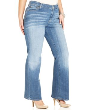 Levi's Plus Size 590 Fuller Waist Bootcut Jeans, Valley Blues Wash