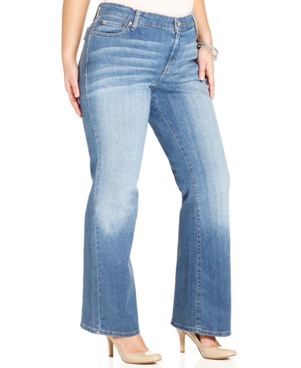 3a0155ea23d Levis  Plus Size 590 Fuller Waist Bootcut Jeans
