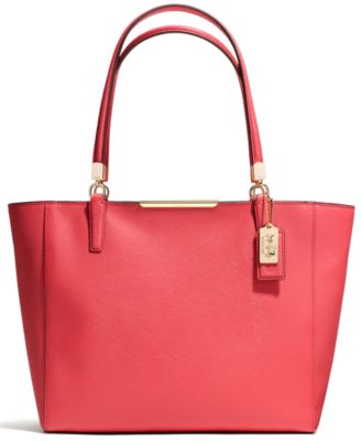 Coach Madison East/West Leather Tote