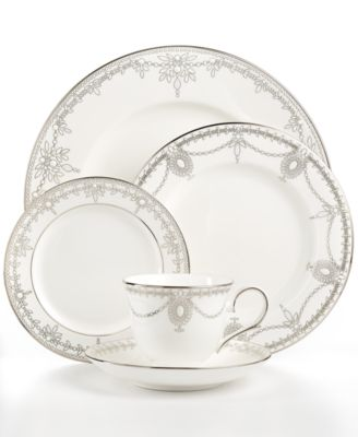 Marchesa by Lenox Dinnerware, Empire Pearl 5 Piece Place Setting