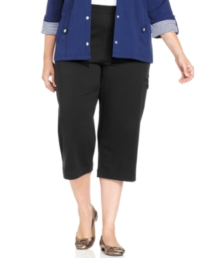 Karen Scott Plus Size Lounge Cargo Capri Pants