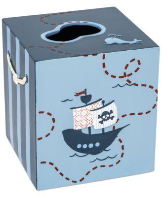 Kassatex Bath Accessories, Pirates Tissue Holder