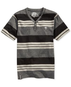 Lrg Cc Y-Neck Colorblocked Striped T-Shirt