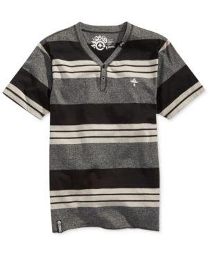 Lrg Cc Y-Neck Colorblocked Striped T-Shirt