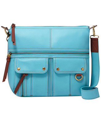 Sale alerts for  Fossil Morgan Leather Top Zip Crossbody - Covvet