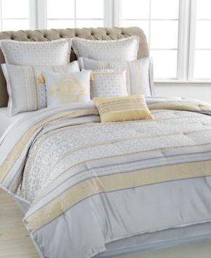 Closeout! Martha Stewart Collection Palace Scroll 9 Piece Queen Comforter Set Bedding