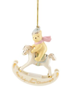 Lenox 2014 Winnie the Pooh Baby's 1st Christmas Annual Christmas Ornament