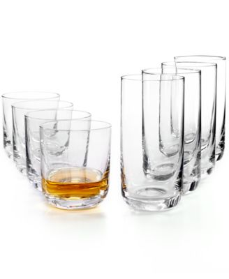 The Cellar Glassware, Set of 8 Premium Double Old Fashioned & Highball Glasses