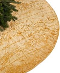 Holiday Lane Crushed Velvet Gold Tree Skirt