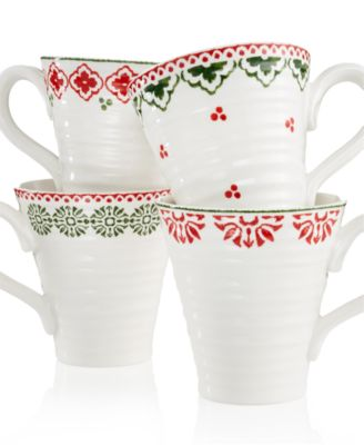 Portmeirion Sophie Conran Christmas Set of 4 Mugs