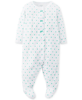 Carter's Baby Girls' Sleep 'n' Play Printed Coverall
