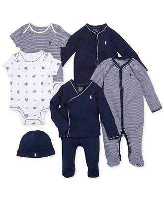 Ralph Lauren Baby Boys Nestled In Navy Gift Bundle Kids