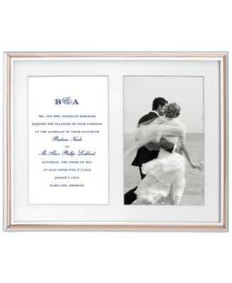 new york Rosy Glow Double Invitation Frame