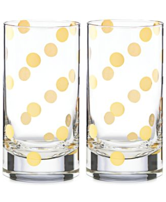 kate spade new york Pearl Place Set of 2 Highball Glasses