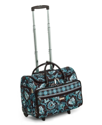 "Vera Bradley ""Java Blue"" Rolling Travel Tote, 17"""