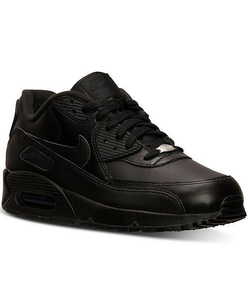 Nike Men's Air Max 90 Leather Casual Sneakers from Finish ...
