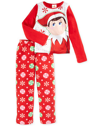 elf on the shelf girls 39 or little girls 39 2 piece fleece. Black Bedroom Furniture Sets. Home Design Ideas