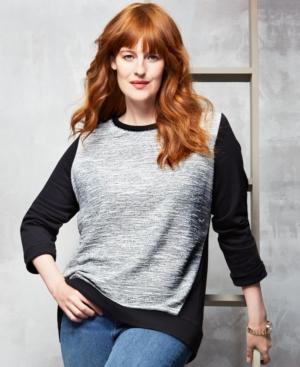 Style & co. Plus Size Colorblock Sweatshirt