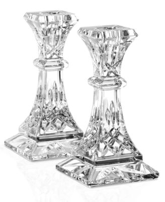 Waterford Gifts, Lismore Candle Holders, Set of 2