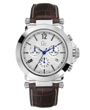 Guess Collection Men's Brown Croco Strap Chronograph