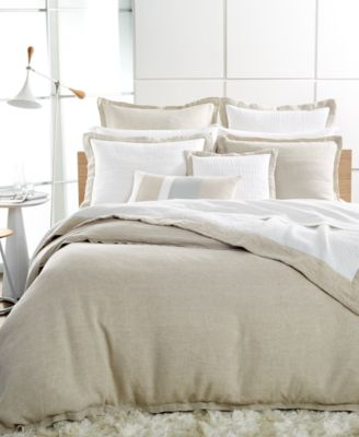 Hotel Collection Linen Natural King Duvet Cover