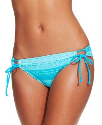 Large Hobie Junior/'s Nomads Land Adjustable Hipster Bikini Bottom Aquamarine