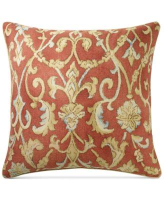 "Ralph Lauren Isla Menorca Scroll 18"" Square Decorative Pillow"
