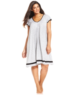 Ellen Tracy Plus Size Yours to Love Short Sleeves Chemise