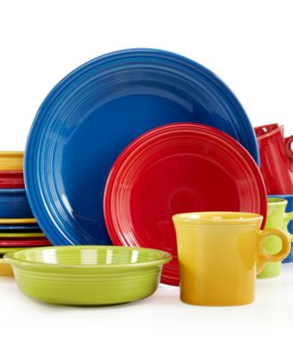 Fiesta Mixed Bright Colors 16-Piece Set, Service for 4