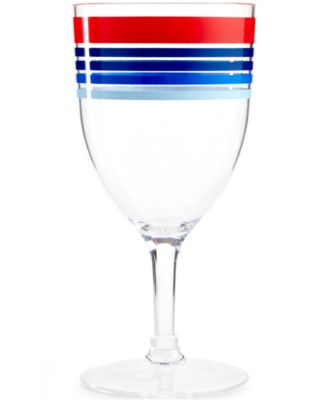 Martha Stewart Collection Striped Acrylic Wine Glass