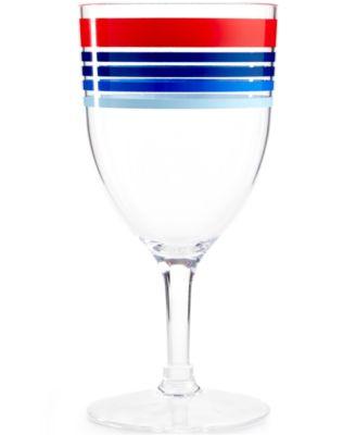 Martha Stewart Collection Striped Acrylic Wine Glass