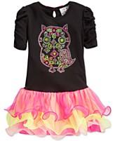 Beautees Little Girls Owl Tutu Dress