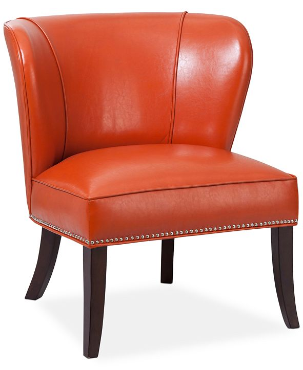 Furniture Janie Faux Leather Accent Chair