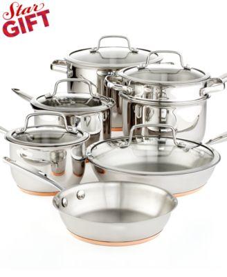 Martha Stewart Collection Copper Accent 12 Piece Cookware Set