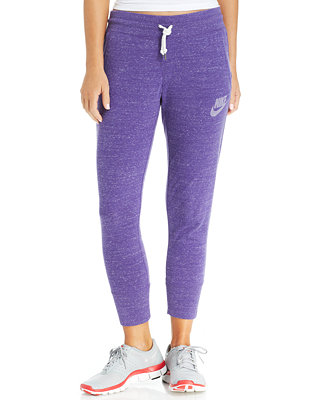 Unique Nike 39gym Vintage39 Capri Sweatpants In Purple WASHED