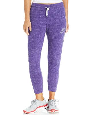 Unique Nike 39gym Vintage39 Capri Sweatpants In Purple WASHED