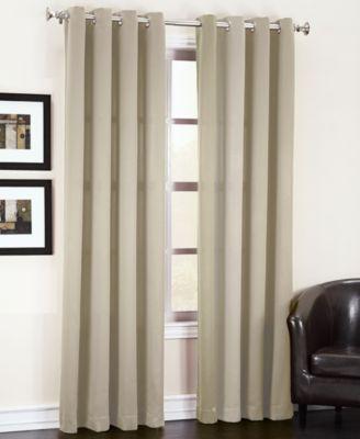 """Sun Zero Grant Solid Room Darkening Grommet 54"""" x 84"""" Panel"""