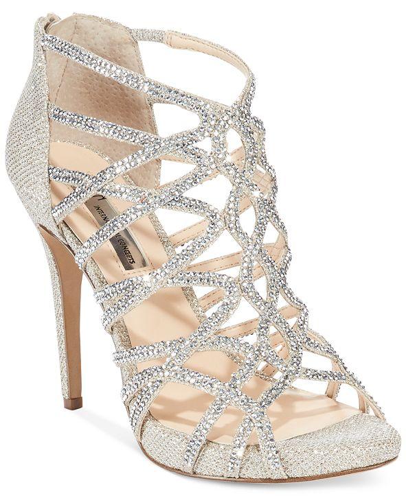 INC International Concepts INC Women's Sharee High Heel Rhinestone Evening Sandals, Created for Macy's