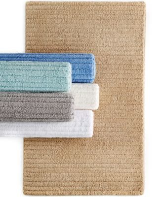 "CLOSEOUT! Martha Stewart Collection Cozy Textured 20"" x 32"" Rug, Only at Macy's"