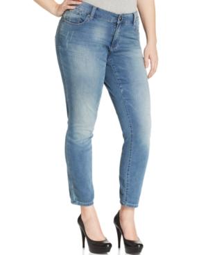 Seven7 Jeans Plus Size Knit Skinny Jeans, Weston Wash