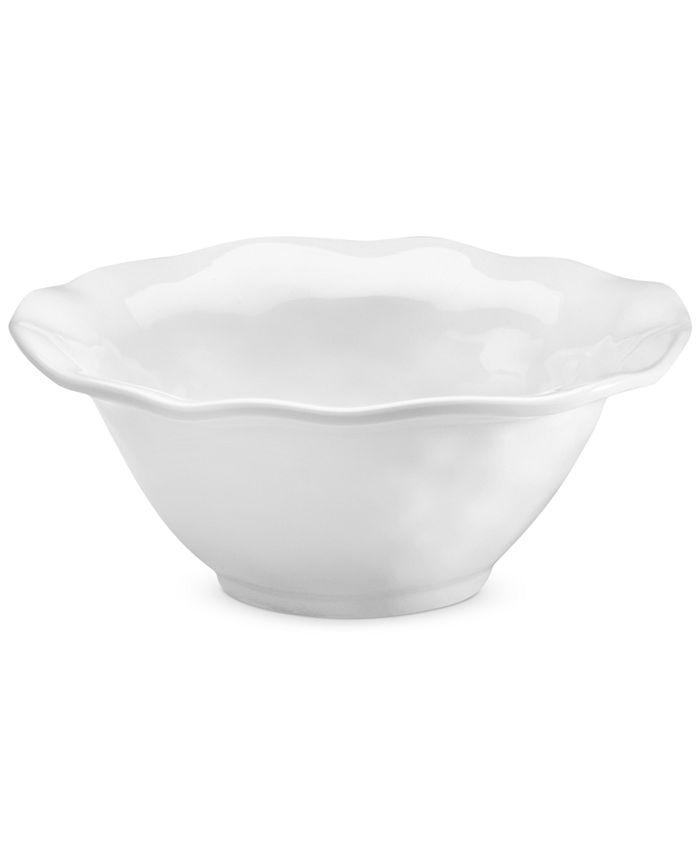 Q Squared - QSquared Ruffle White Melamine Cereal Bowl