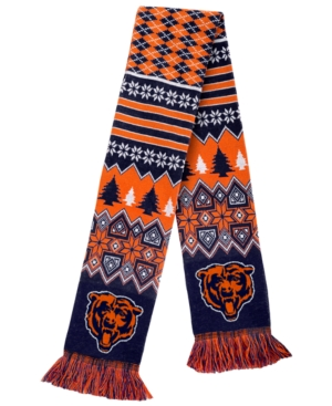Forever Collectibles Chicago Bears Christmas Sweater Scarf plus size,  plus size fashion plus size appare