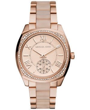 Michael Kors Women's Bryn Blush Acetate and Rose Gold-Tone S
