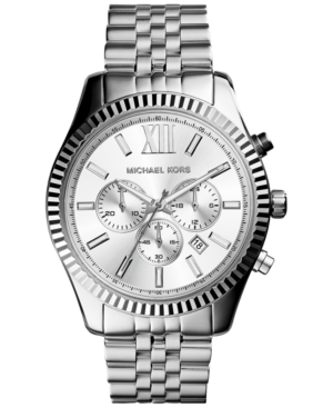 Michael Kors Men's Chronograph Lexington Stainless Steel Bra