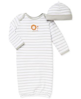 Little Me Baby Boys' 2-Piece Hat & Lion Gown Set