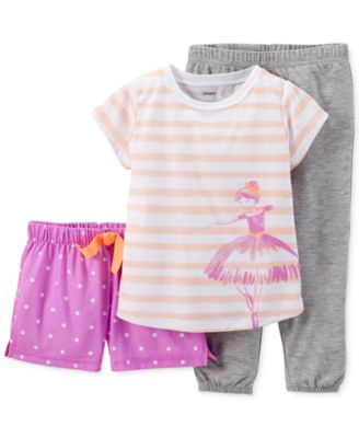 Carter's Baby Girls' 3-Piece Ballerina Pajamas