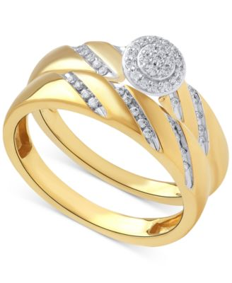 Diamond Halo Engagement Ring Set in 14k Gold (1/5 ct. t.w.)