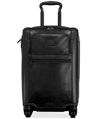 "Tumi Alpha 2 Leather 34"" Expandable Spinner Suitcase"
