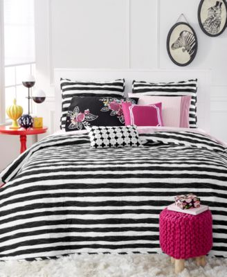CLOSEOUT! Martha Stewart Collection Whim Black Different Strokes Full/Queen Quilt